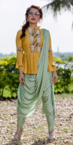 Peplum Top and Drape Sari