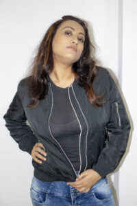 Lee Cooper Biker Jacket worn by Sharmistha Chatterjee
